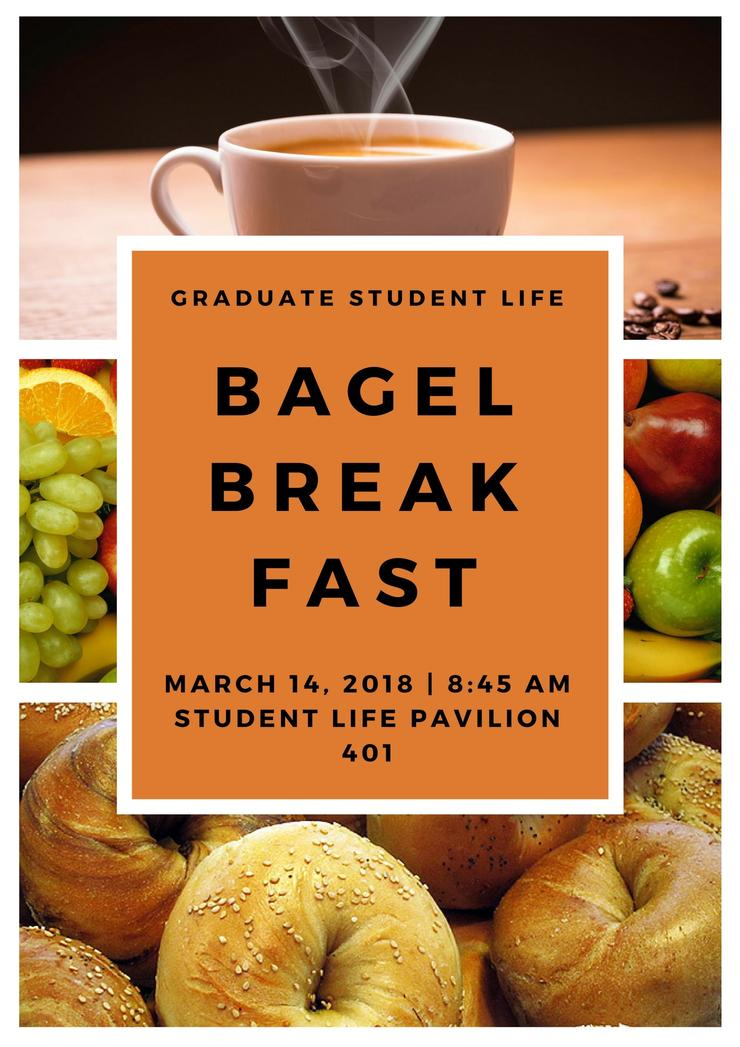 Flyer for Bagel Breakfast