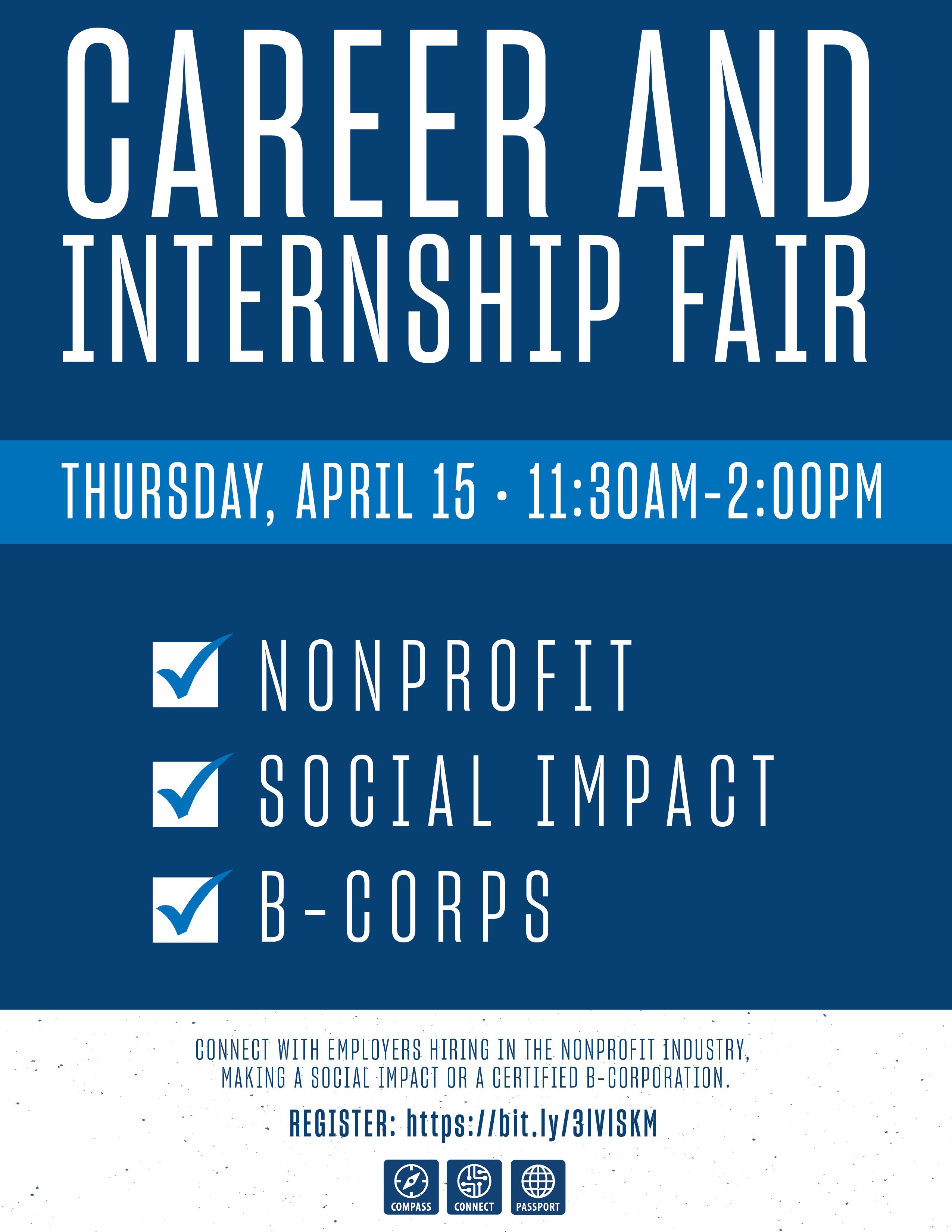 Social Impact Career Fair flyer