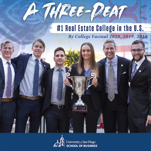 Image of USD School of Business Ranks No. 1 for Best Real Estate College in U.S.
