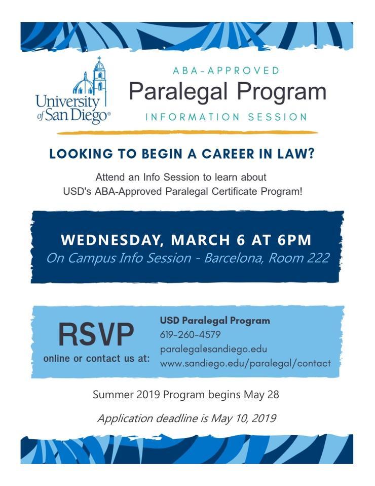 Paralegal Info Flyer