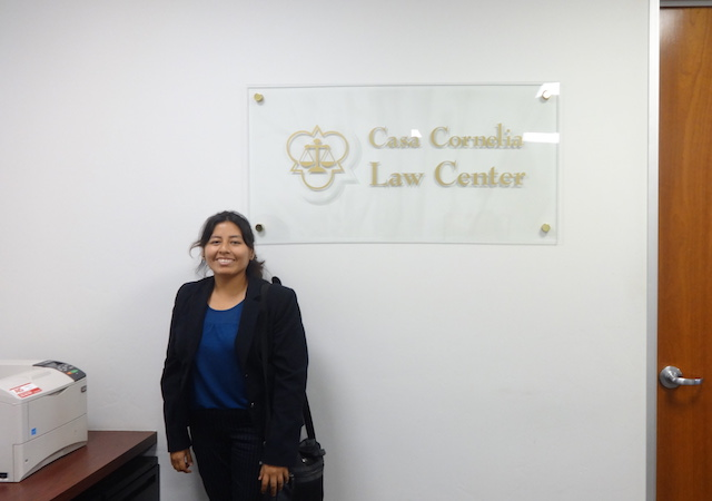 Diana Roldan at Casa Cornelia Law Center
