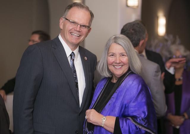 USD President James T. Harris III and Trustee Darlene Marcos Shiley