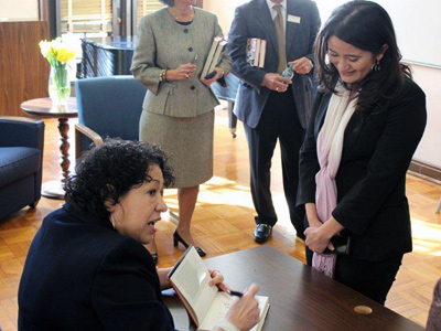 Supreme Court Justice Sotomayor and Rosibel Mancillas-Lopez
