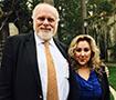 Professor Robert Fellmeth with Tracey Plata at the AALJ Awards Luncheon