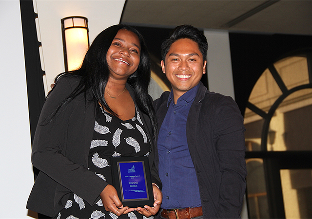 Tiarsha Betha and Ryan Jumamil, SSS Fearless Award presentation