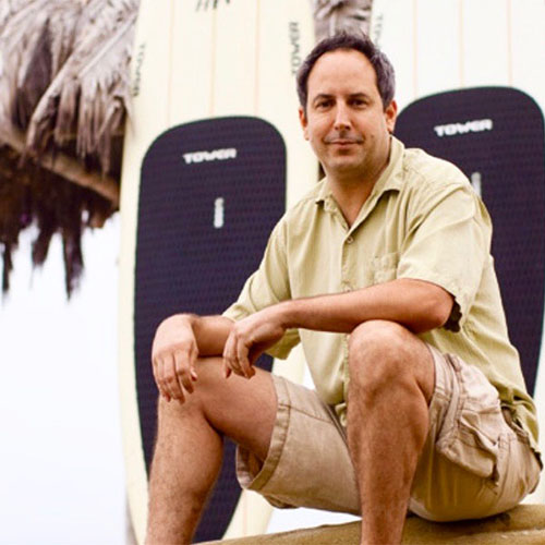 Stephan Aarstol, USD alumnus and Founder and CEO of Tower Paddle Boards