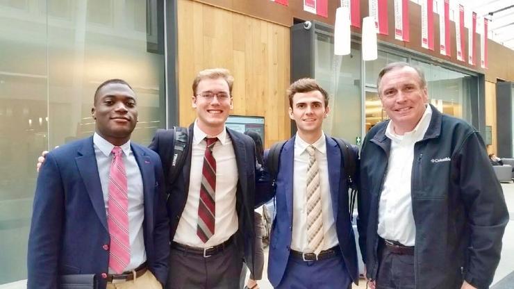 USD School of Business Mediation Team: Zion Reid, Andrew Brooksbank, Alex Oberman, Professor Richard E. Custin (Coach)