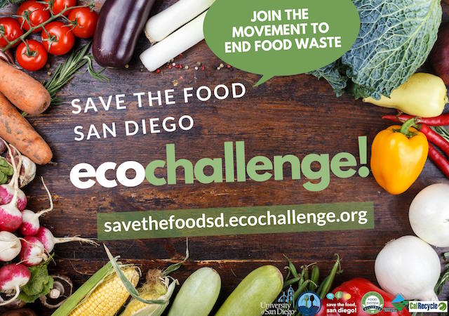 Save the Food Ecochallenge flyer with image and sponsor logos