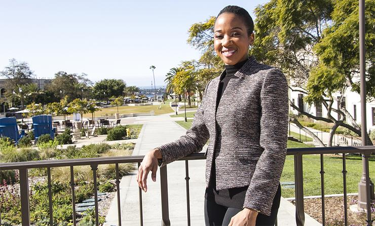 Ashley Barton, director of the Black Student Resource Commons for five years, strives to increase educational opportunities for black students to excel at the University of San Diego.