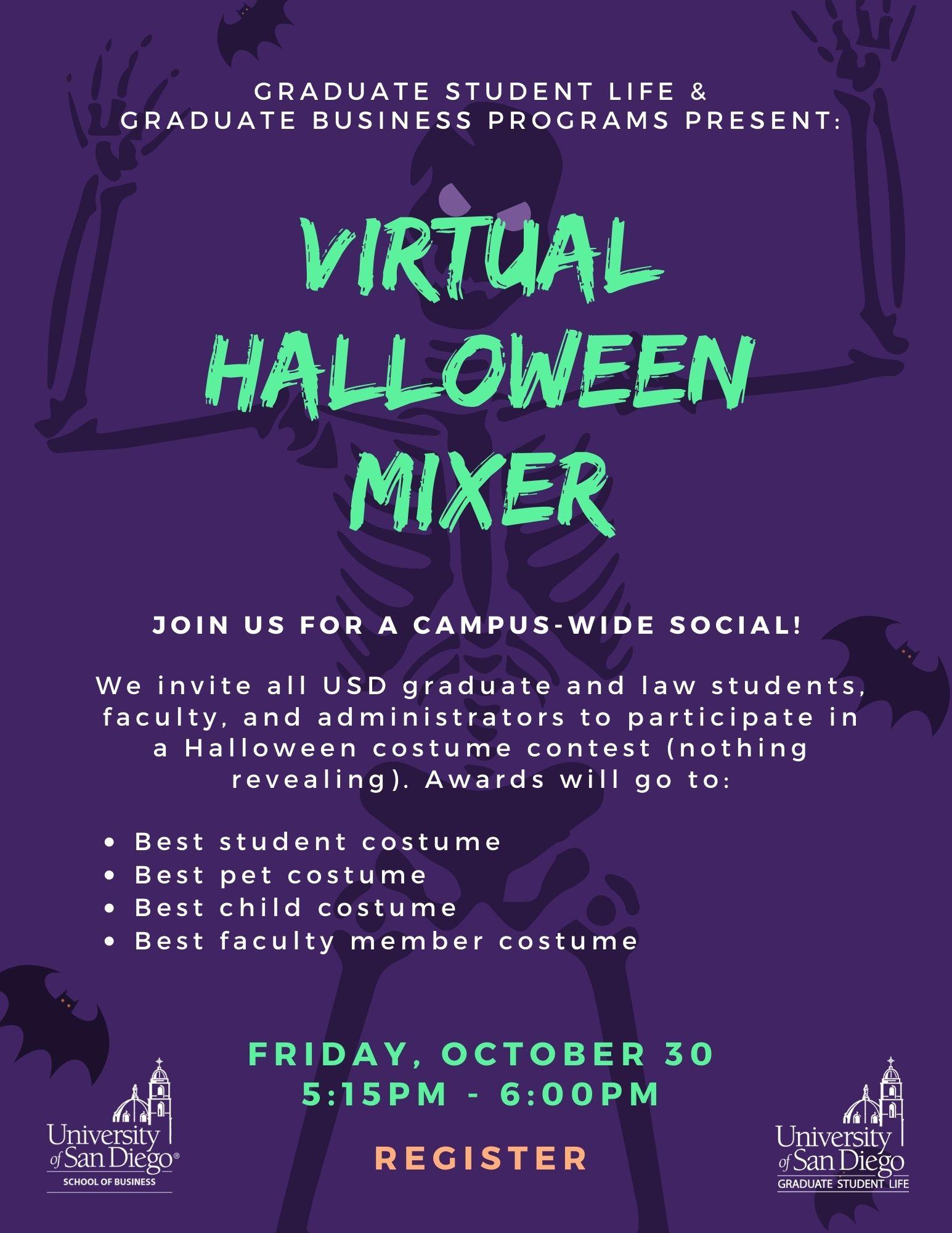 Virtual Halloween Mixer Flyer