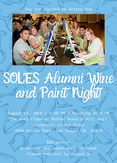SOLES Wine and Paint Night Flyer