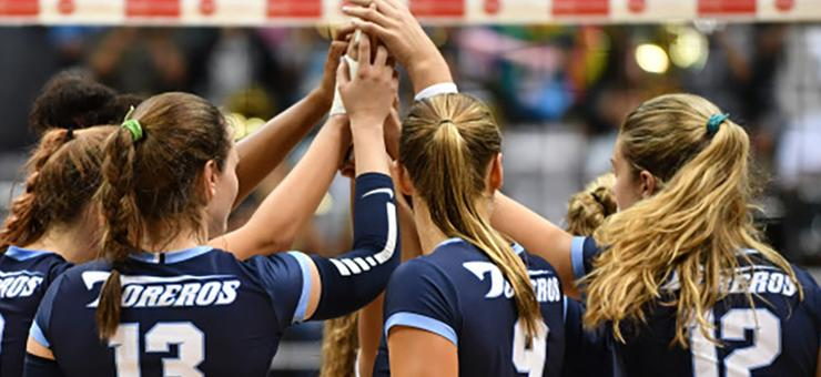 The USD volleyball team, ranked 17th nationally, takes a 6-3 record into tonight's 6 p.m. home match vs. San Diego State. It is USD Faculty/Staff Appreciation Night and TPB hosts a student tailgate.