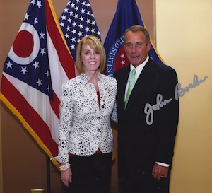 Sally Zoll and House Speaker John Boehner