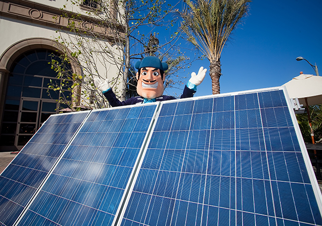 Diego Torero with Solar Panels