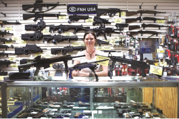 One of the 6,700 U.S. arms stores along the southern border