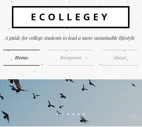 A screenshot of the blog homepage.