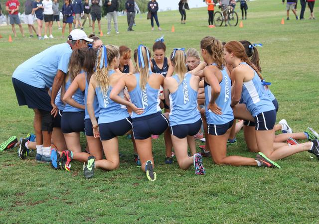 Women's Cross-Country team prepares for the Sept. 17 USD Invitational.
