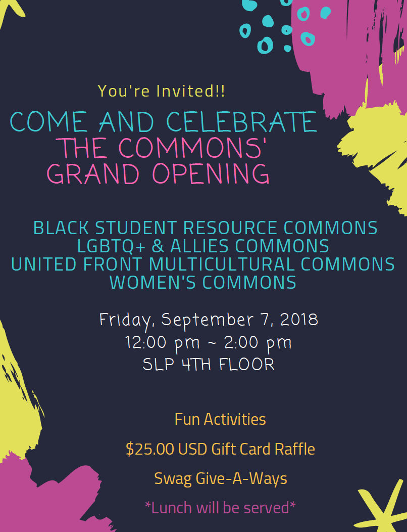The Commons flyer