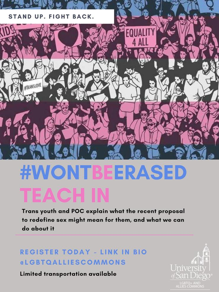 Won't Be Erased Teach-In: Trans youth and POC explain what the recent proposal to redefine sex might mean for them, and what we can do about it