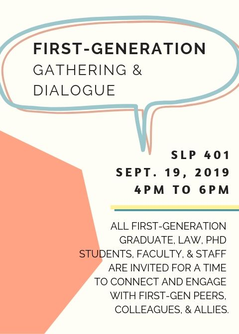First Generation Gathering and Dialogue Flyer