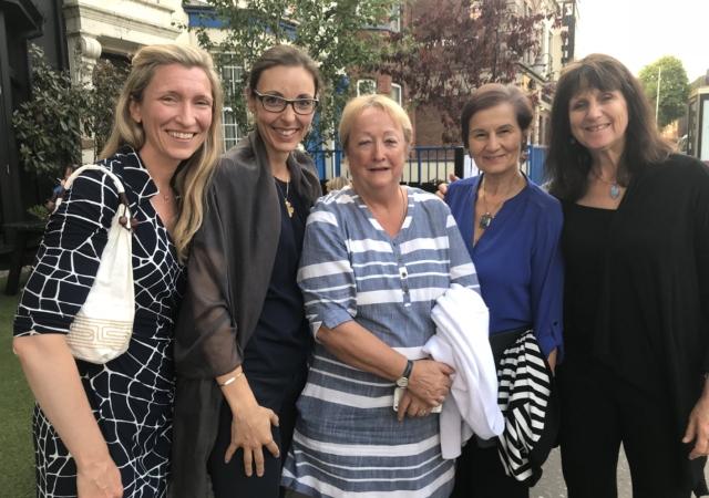 Left to Right: Laura Taylor, Kroc School alumna and Lecturer, Queen's University, Belfast; Jennifer Freeman, Associate Director of PeaceMakers Programs, Kroc IPJ, and Professor of Practice, Kroc Schoo