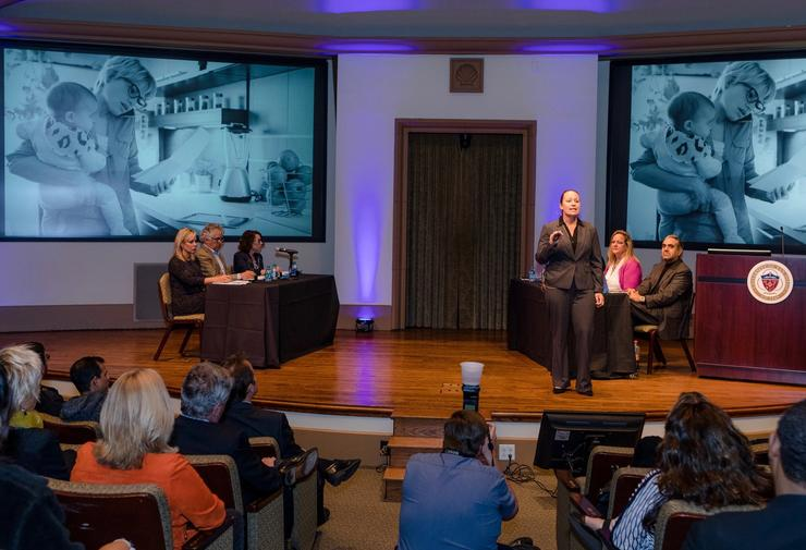 Generations Co-founder, Janaira Quigley Pitches Her Startup Idea at USD's V2 Pitch Competition