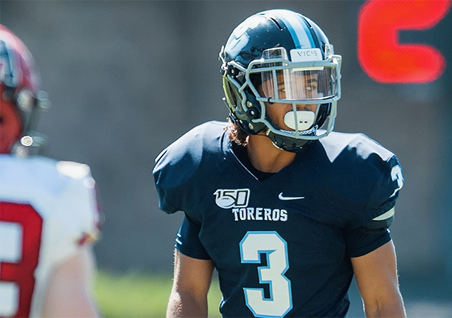 Cassius Johnson intercepted two of USD's four Marist passes in a 31-7 Torero Homecoming victory.