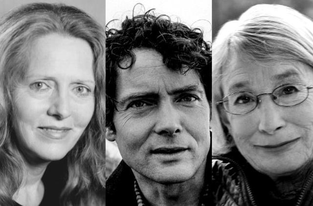 Poets Linda Gregg, W.S. Merwin, and Mary Oliver