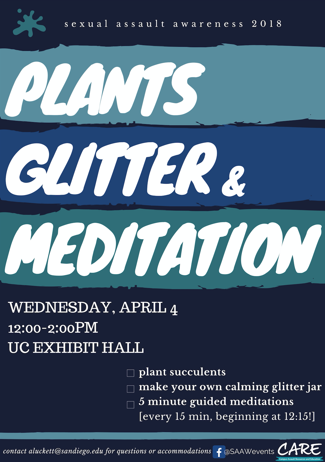 Plants, Glitter & Meditation Flyer