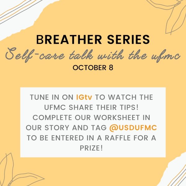 Breather Series on 10/8 on IG @usdUFMC