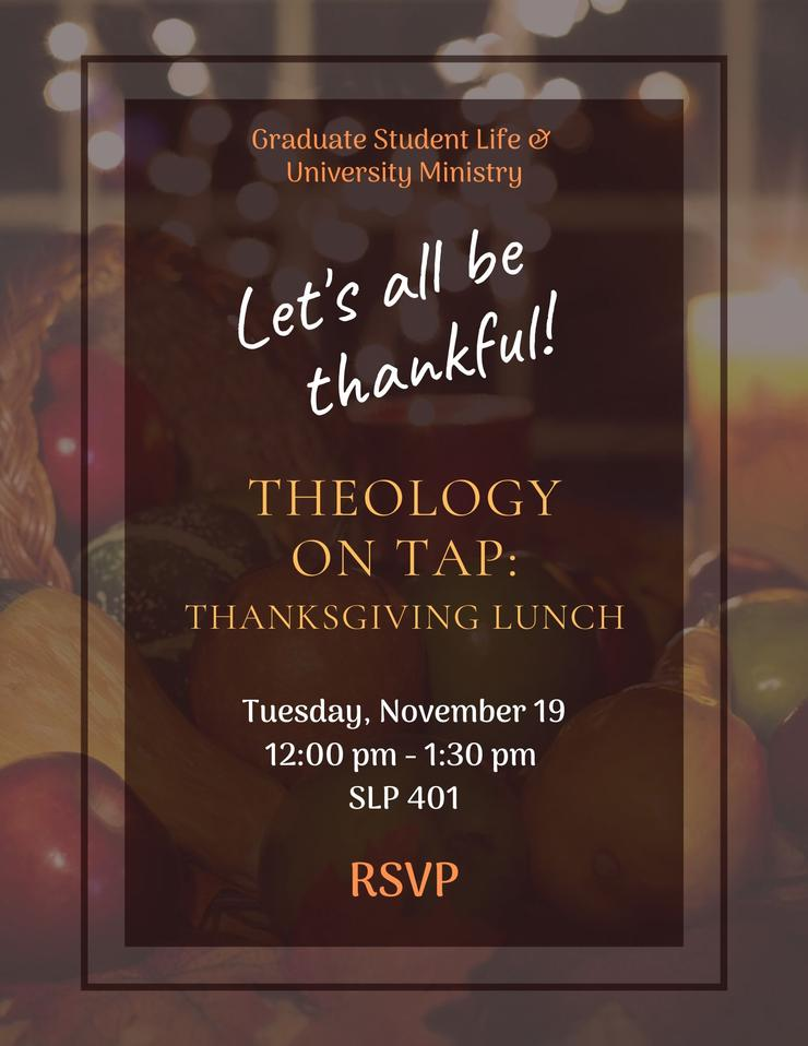 Theology on Tap: Thanksgiving Lunch