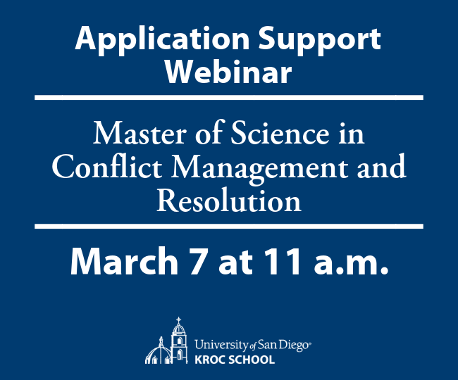 Master of Science in Conflict Management and Resolution Application Support Webinar