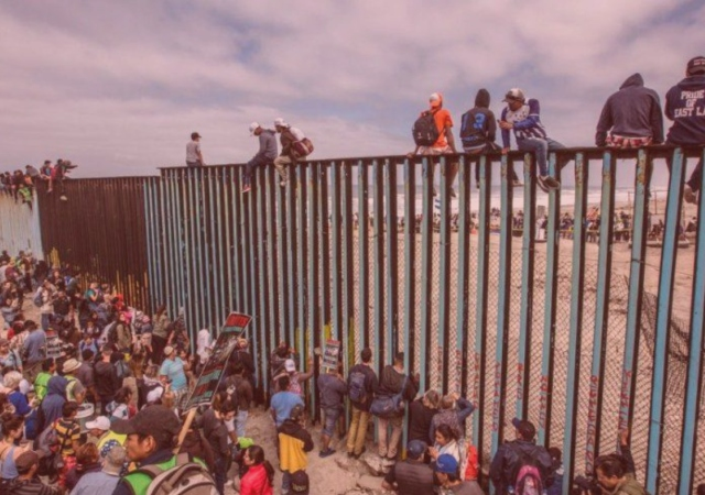 flyer cover of the U.S.-Mexican border