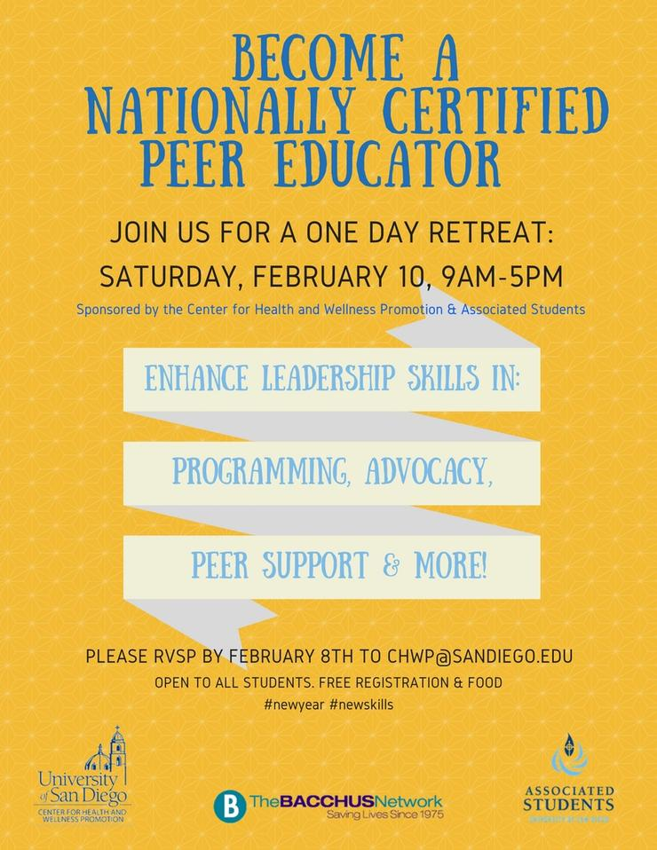 Nationally-Recognized BACCHUS Peer Educator Certification Training
