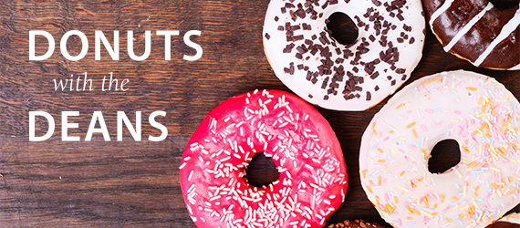 Donuts with the dean web banner