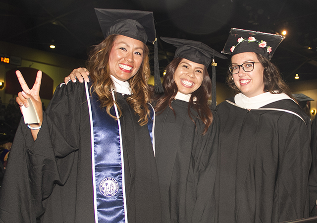 Bianca Alvarado, far left, and other MASI 2018 grads