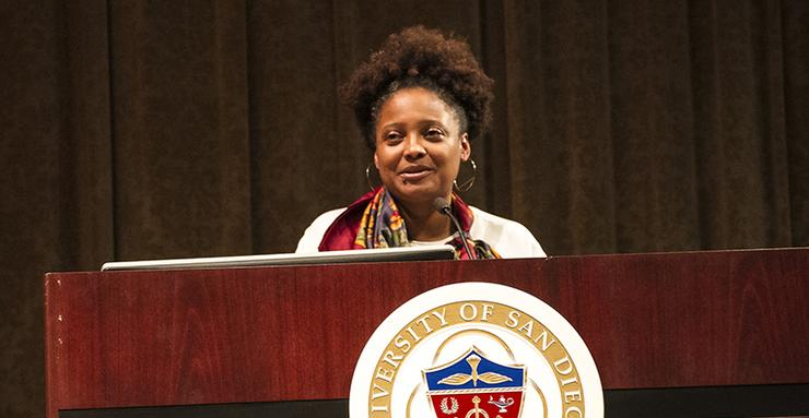 Tracy K. Smith, the 22nd U.S. Poet Laureate, was the special guest speaker for the March 21 Lindsay J. Cropper Memorial Writers Series event. It recognized the 15th anniversary of the USD program.