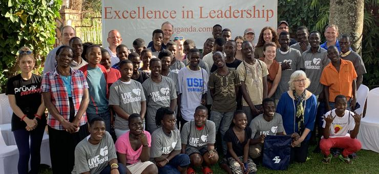 USD group visits AidChild in Uganda