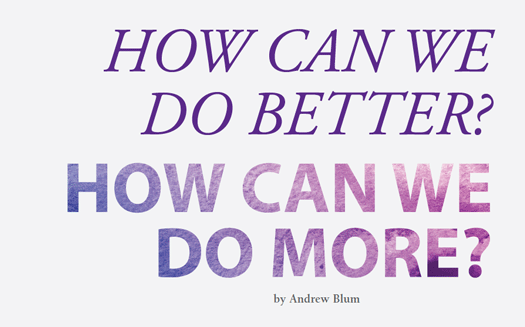 How Can We Do Better? - 2016 Kroc School Magazine