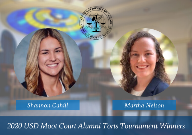 2020 Alumni Torts Tournament Winners Shannon Cahill and Martha Nelson