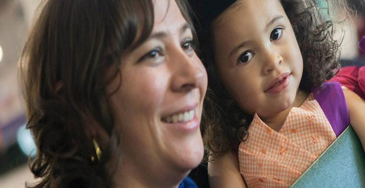 Dr. Ruiz and her daughter