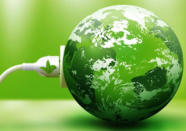 Green earth with plug