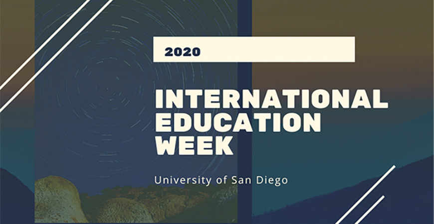 The annual International Education Week, celebrated nationally Nov. 16-20, will be recognized at USD with virtual and social media events and activities.
