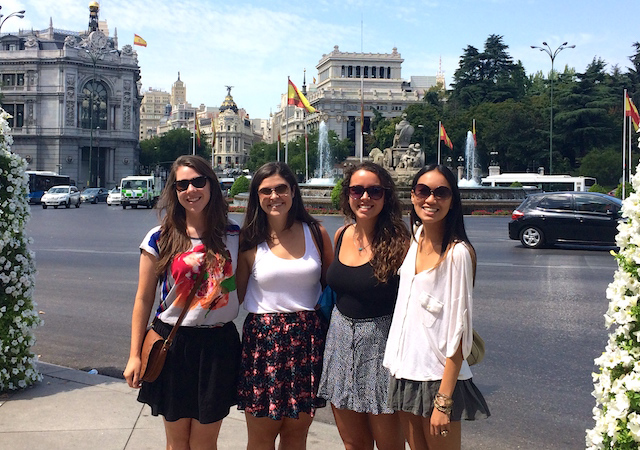 Students in Madrid, Spain