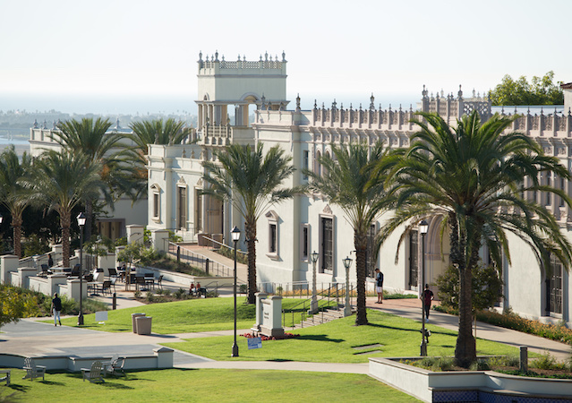 Outside view of Paseo de Colachis and Camino Hall