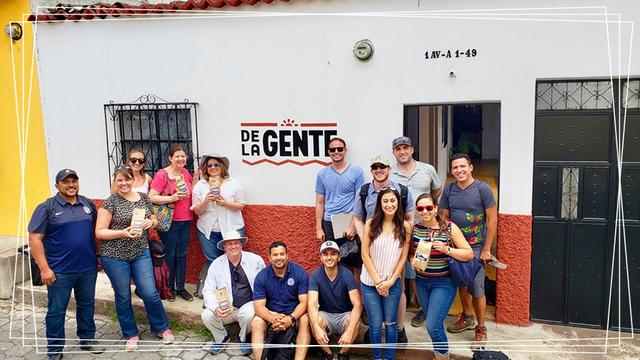 USD students at the De La Gente organization in Antigua, Guatemala