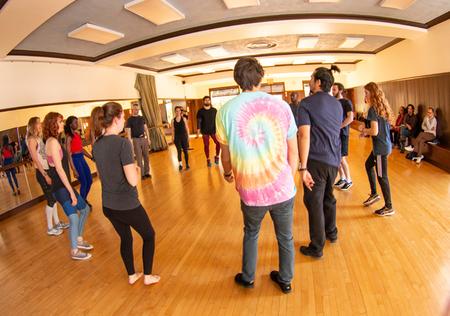 Clowning Workshop for USD theatre students and the community