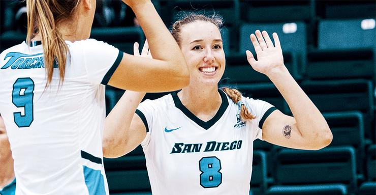 Women's volleyball junior Roxie Wiblin was invited to the U.S. Women's National Team open tryouts in March and was selected to the Collegiate National Team and took part in a July camp.