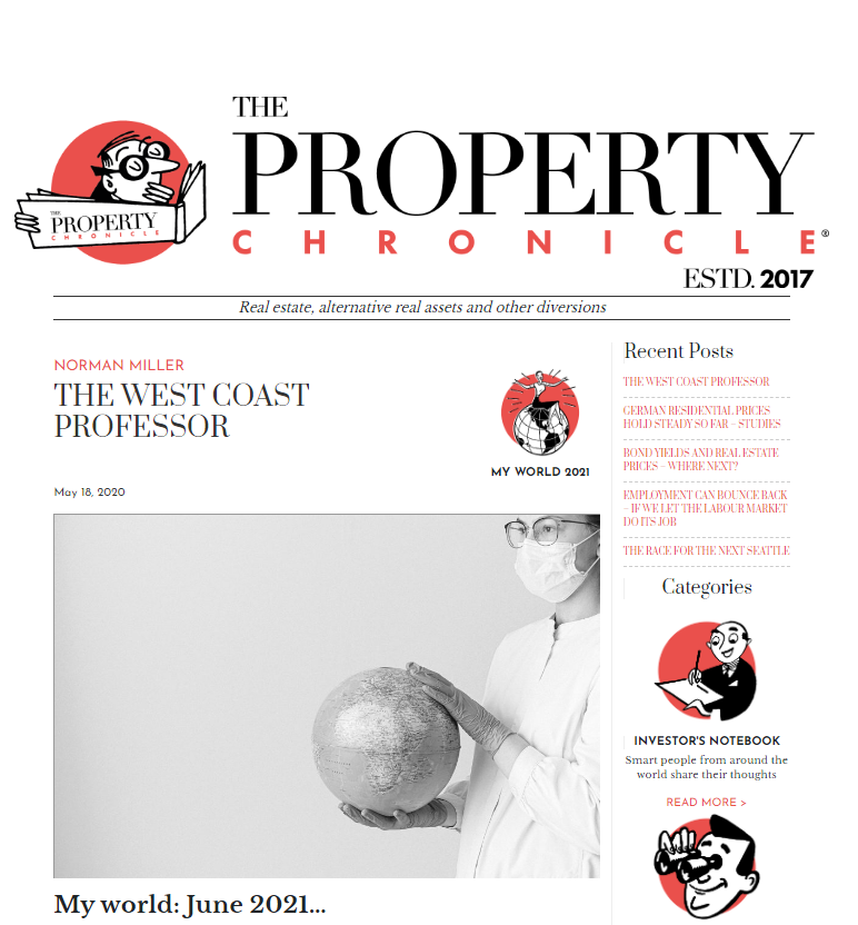 Front page of the Property Chronicle