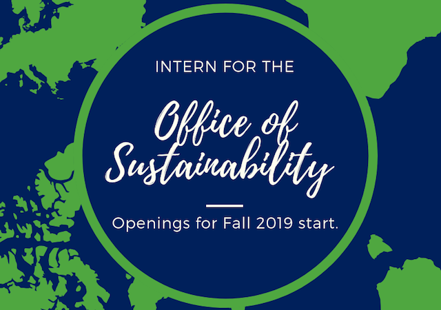 intern hiring for Office of Sustainability fall 2019